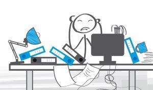 Ordnung, Chaos, Unordnung, aufräumen, aufgeräumt, chaotisch, Arbeitsplatz, Büro, Ordnungssystem, strukturiert, arbeiten, ordentlich, unordentlich, unstrukturiert, unorganisiert, Schreibtisch, organisiert, gegensätzlich, Plan, Gegensätze, Organisation, wegwerfen, Mitarbeiter, unorganisiert, sortiert, Überblick, Durcheinander, Papierstapel, to do, managen, Business, schaffen, effektiv, Akten, Ordner, Ablage, Stress, unterschiedlich, überfordert, Überforderung, Strichmännchen